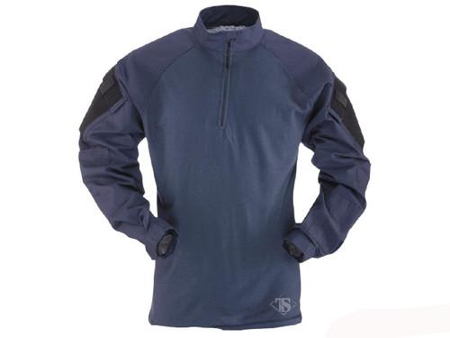 Tru-Spec Tactical Response Uniform 1/4 Zip Combat Shirt - Navy (Size: Small)