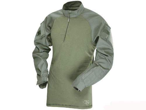 Tru-Spec Tactical Response Uniform 1/4 Zip Combat Shirt - OD Green (Size: Small)