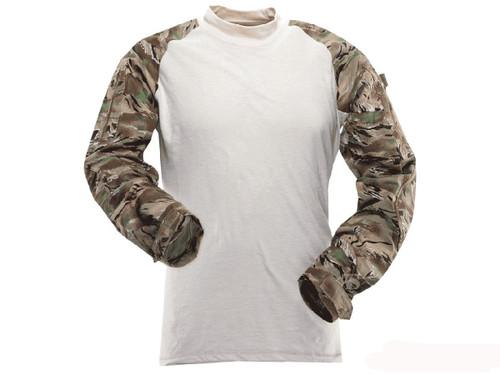 Tru-Spec Tactical Response Uniform Combat Shirt - All Terrain Tiger Stripe (Size: Small)