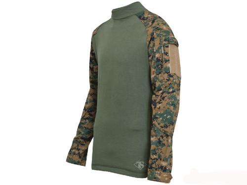 Tru-Spec Tactical Response Uniform Combat Shirt - Digital Woodland (Size: Small)