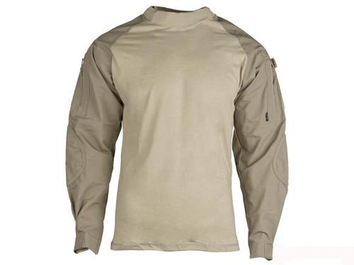 Tru-Spec Tactical Response Uniform Combat Shirt - Khaki (Size: Small)