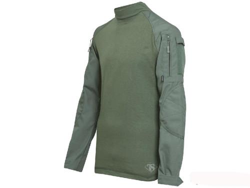 Tru-Spec Tactical Response Uniform Combat Shirt - OD Green (Size: Small)