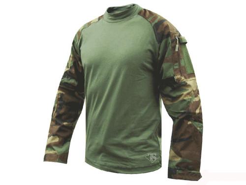 Tru-Spec Tactical Response Uniform Combat Shirt - Woodland (Size: Small)