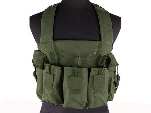 NcStar Tactical 6 Pouch AK Chest Rig - OD Green