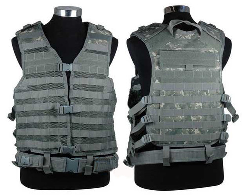 NcSTAR Tactical MOLLE Vest w/ Hydration Pouch and Pistol Belt. (ACU)