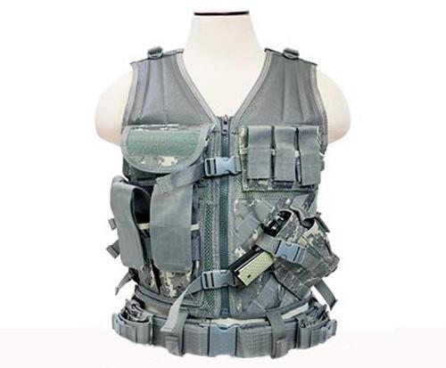 NcStar VISM Tactical Vest - Large - Digital Camo
