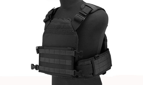HSGI MPC Modular Plate Carrier- Black (Large Carrier / Small Sure Grip)