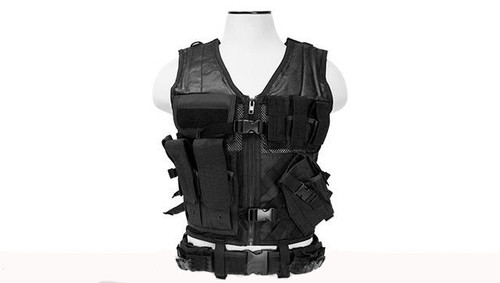 NcStar VISM Tactical Vest - Large - Black