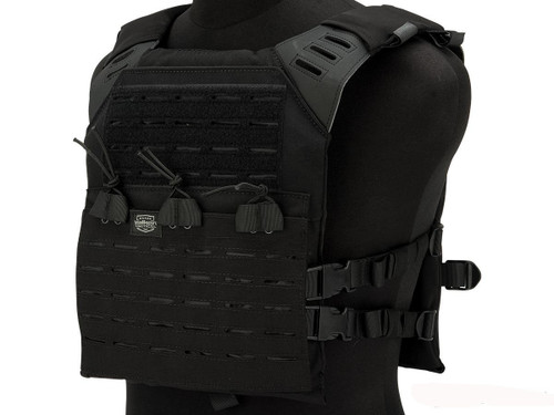 Valken Laser Cut Compact Plate Carrier (Color: Black)