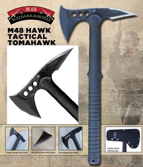 United M48 2765 Hawk Tactical Tomahawk - Black
