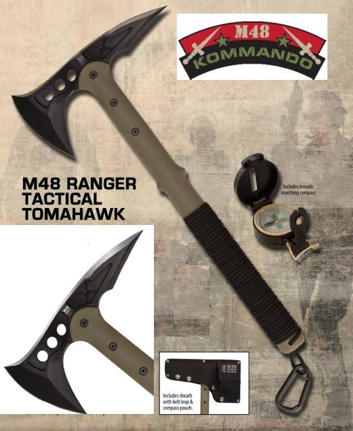 United M48 2836 Ranger Hawk w/Compass OD Green