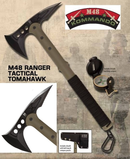 United M48 2836 Ranger Hawk w/Compass OD Green