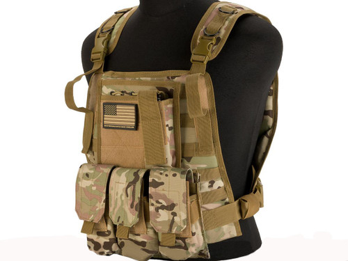 Avengers Tactical Spec. OPS MOLLE Plate Carrier / Load Bearing Vest - Camo