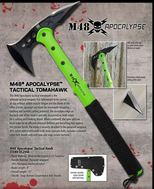 United M48 UC2946 Apocalypse Tactical Tomahawk