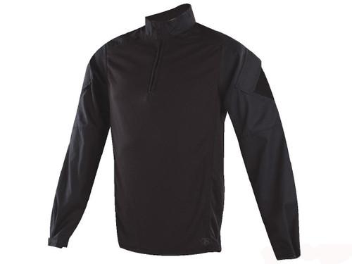 Tru-Spec Urban Force TRU 1/4 Zip Combat Shirt (Size: Black / Small)