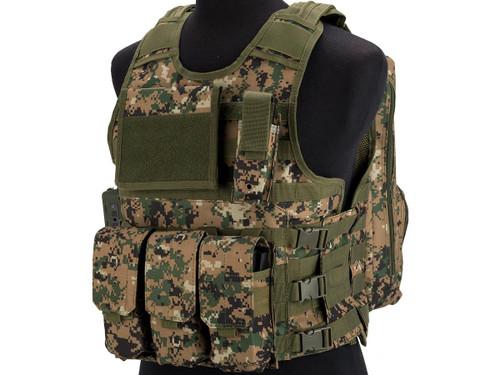 Matrix MEA ModII Tactical Vest (Color: Digital Woodland)