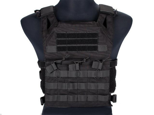 Avengers Compact Airsoft High Speed JPC Plate Carrier (Color: Black / Adult)