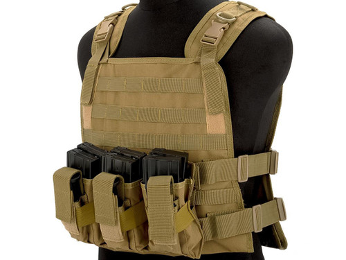 Matrix 600D MOLLE Plate Carrier Tactical Package with Hydration Carrier (Color: Tan)