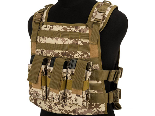 Matrix 600D MOLLE Plate Carrier Tactical Package with Hydration Carrier (Color: AOR1)
