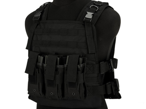 Matrix 600D MOLLE Plate Carrier Tactical Package with Hydration Carrier (Color: Black)