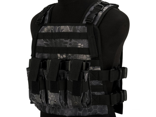 Matrix 600D MOLLE Plate Carrier Tactical Package with Hydration Carrier (Color: Typhon)