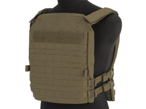 Mission Spec Essentials Only Carrier (EOC) XL Tactical High Speed Plate Carrier (Color: Coyote Brown)