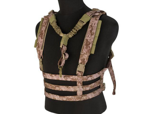 Avengers Tactical Low Profile MOLLE Chest Rig System - Digital Desert