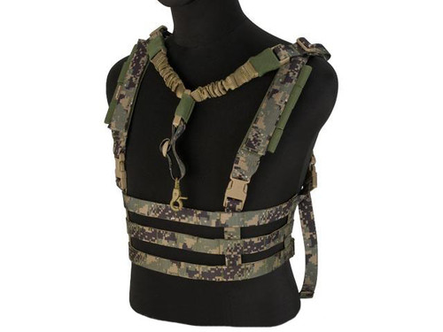 Avengers Tactical Low Profile MOLLE Chest Rig System - Digital Woodland