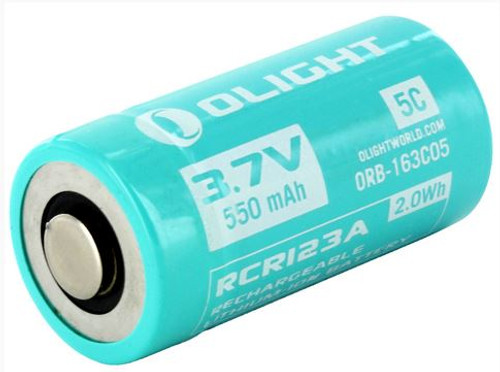 Olight 16340 Rechargeable Battery - 550mAh