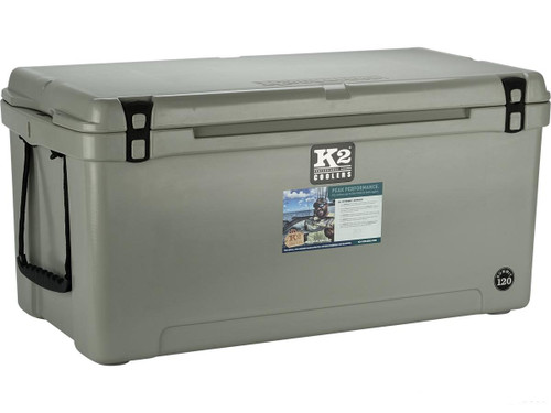 K2 Coolers Summit 120 Ice Chest (Color: Steel Grey)