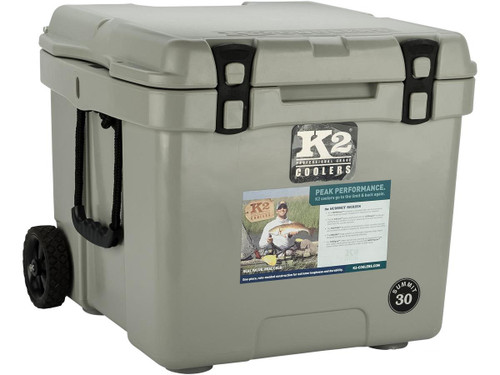 K2 Coolers Summit 30 Ice Chest w/ Wheels (Color: Steel Grey)