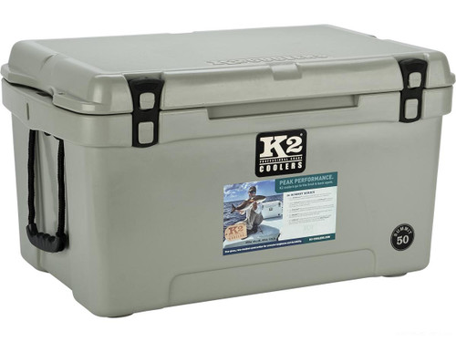 K2 Coolers Summit 50 Ice Chest (Color: Steel Grey)