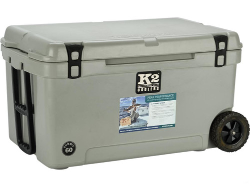K2 Coolers Summit 60 Ice Chest w/ Wheels (Color: Steel Grey)