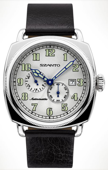 Szanto 6202 Officer's Coin Cushion Automatic - Black and Silver