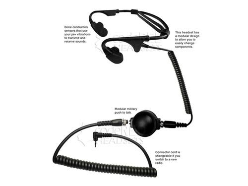 Code Red Battle Zero Tactical Bone Condusction Radio Headset (Type: Motorola 1 Pin)