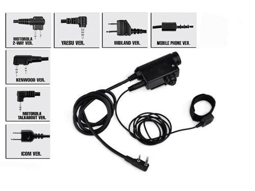 Earmor Button activated PTT (Model: 3.5MM AUX)