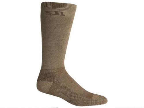 "5.11 Tactical Level I 9"" Socks - Coyote Brown"