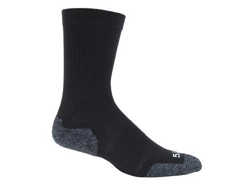 5.11 Tactical Slip Stream Crew Sock - Black (Size: Medium)