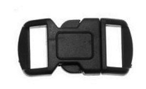 Paracord Small Buckle 4-Pack [Black] Square Outline