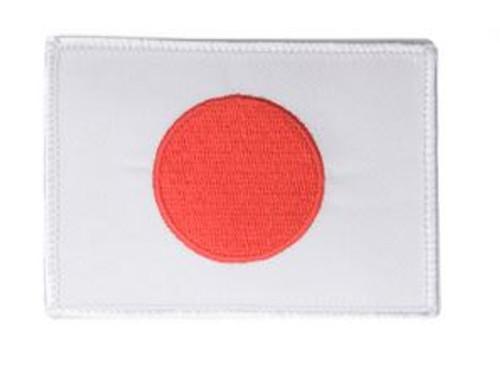 White Trim Japanese Flag Iron On Patch