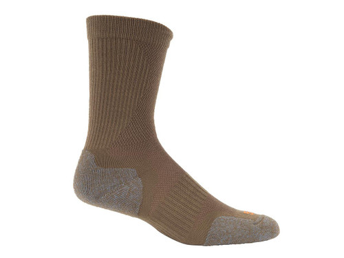 5.11 Tactical Slip Stream Crew Sock - Coyote (Size: Medium)