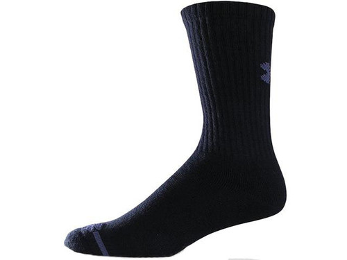 Under Armour Men's Charged Cotton® Crew Socks 6-Pack - Black (Size: Large)