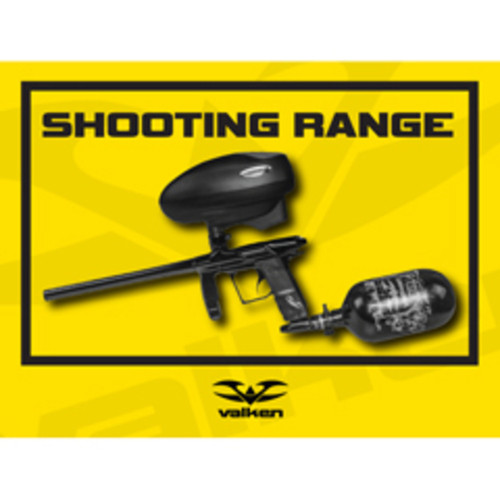Valken Paintball Field Sign - Shooting Range