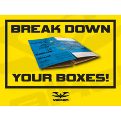 Valken Paintball Field Sign - Break Down Boxes