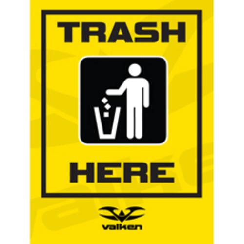 Valken Paintball Field Sign - Trash Here