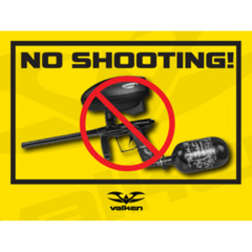 Valken Paintball Field Sign - No Shooting