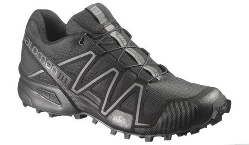 Salomon SpeedCross 3 Forces Running Shoes - Black / Black / Autobahn (Size: 10)