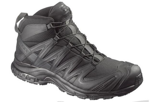 Salomon XA Pro 3D MID Forces Tactical Boots - Black / Black / Asphalt (Size: 8)