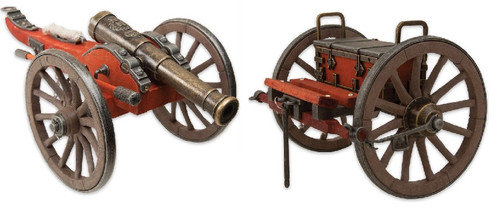 "Civil War Cannon & Limber Chest - 20"" Long"