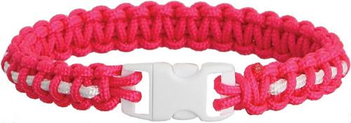 Bracelet Pink/Wht Stripe Lg